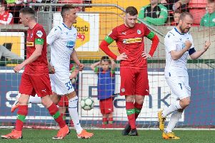 Cliftonville suffered a first-half setback at Solitude against Haugesund. Pic by Pacemaker.