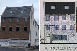 The new look Round Green Tavern vs the original proposal