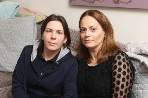 Fay Jenkinson-Folan from Worthing (right) with her wife Kez