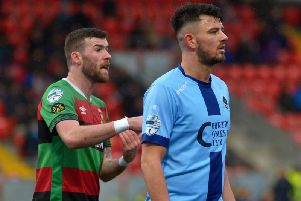 Joe McCready (right)  has joined Ballymena United on a two and a half year deal.