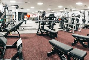 The gym at Newbold Comyn Leisure Centre
