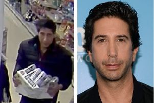 The photo of the 'Ross Geller doppleganger' has gone viral (Photos: Blackpool Police/Shutterstock)