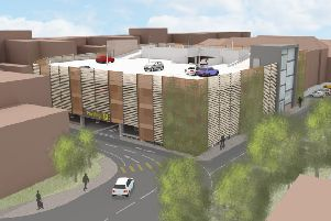 An artist's impression of the proposed multi-storey car park in Lower Kings Road, Berkhamsted PNL-150812-144942001