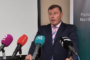 Detective Chief Inspector Pete Montgomery speaks  to the media at PSNI Headquarters on Wednesday about  the investigation into the murder of 54-year-old Malcolm McKeown in Waringstown.'Pic: Colm Lenaghan/Pacemaker