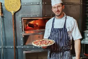 Pizza chef Alex Balan