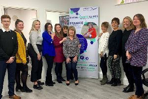 Rita Ross, trustee and co-founder of Reverse Rett, centre, with the hr inspire team including Sandra McLellan, third on right, director of hr inspire.
