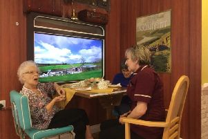Residents at The Lodge took an authentic train ride