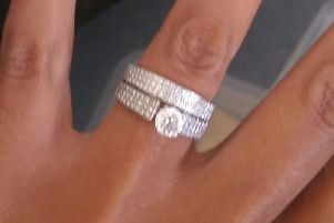 Detectives have released an image of two rings that were stolen