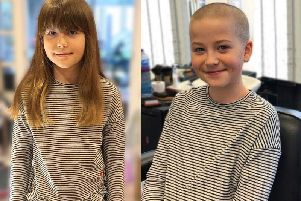 Serain shaved off her hair to raise money for charity and donate her hair to The Little Princess Trust
