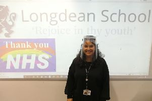 Malika El Boukali, a Design and Technology teacher from Longdean School made the face visors to help the staff during the coronavirus pandemic