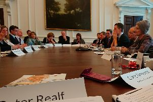 Peter Realf was at a meeting with Dame Tessa Jowell  at the Cabinet offices in Whitehall.