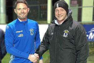 Kris Lindsay welcomes James Ferrin to Dungannon Swifts