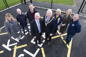 Pictured is the Chair of Mid Ulster District Council, Councillor Sean McPeake, alongside local Community representatives, Councillors and the Department for Agricuture, Environment and Rural Affairs (DAERA) visited Benburb recently to view the works completed under the Village Renewal Scheme, funded through the Rural Development Programme and delivered by the Council.