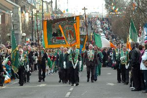 Members of the AOH on parade