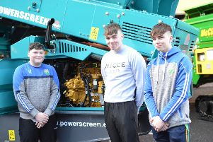 Pictured at the recent Get Engineering Careers Fair at South West College (SWC) Dungannon