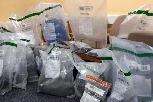 Drugs seized in Mid Ulster.  Photo: PSNI
