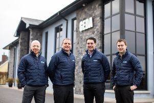 Seamus Donaghy, John Coalter, Niall McGovern and John Duffy pictured outside the firm