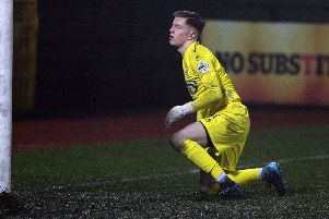 Dungannon Swifts keeper Alex Moore. Credit �INPHO/Freddie Parkinson