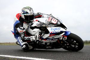 Michael Dunlop tested the 2019-spec Tyco BMW at Kirkistown in Co. Down after missing the opening British Superbike tests due to the late arrival of the S1000RR. Dunlop is competing in the BSB test at Oulton Park in Cheshire. Picture: David Maginnis/Pacemaker Press.