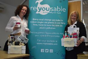 Claire Cobbold and Nicola Crofts with some of their products.