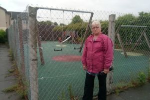 Dorothy Johnston pictured at the play area in Riverside, Castledawson.