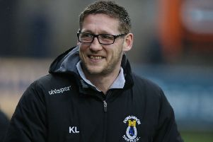 Dungannon Swifts manager Kris Lindsay. Pic by INPHO.