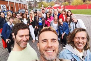Take That and the lucky fans. Credit: ITV