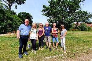 Some of the residents of the Wickhurst Green estate who are angry at spiralling service charges SUS-190722-131338001