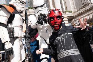 Star Wars fan Charlie Lashmar dressed up as Darth Maul at Portsmouth Comic Con 2019. Picture: Duncan Shepherd