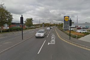 The crash was on Towcester Road, near Lidl. Photo: Google