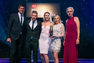 The team received the award from Vernon Kay. Photo courtesy of HJ's British Hairdressing Business Awards 2019