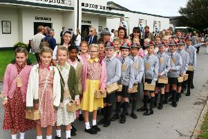 DM1991531a.jpg. Goodwood Revival 2019. Children from The March School, Chichester. Photo by Derek Martin Photography. SUS-190913-124156008