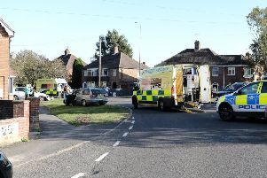 The scene of the collision at the junction of Kenwick Road and Legbourne Road. (Photo: Martin Shelley).
