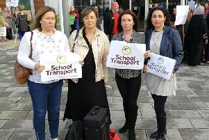 Emma Cissel, Vicky Groulef, Siobhan Adams and Galit Ben-Ami Gibson of campaign group Bucks Community School Transport Issues