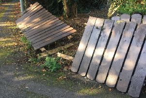 Fence belonging to an 87-year-old pensioner wrecked at the weekend
