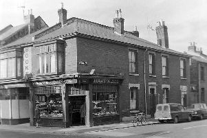Turk Street at the junction with Lake Road. Harts was established in 1860. Picture: Mick Cooper collection
