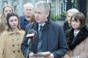 Peter Dolan and his family speaking after the drunk driver who killed his son''Enda had his sentence increased to eight years in 2017. Photo: Jonathan Porter/PressEye.com