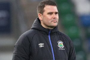 Linfield manager David Healy. Pic by Pacemaker.