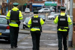 PSNI patrolling the streets of Belfast during the Coronavirus COVID-19 pandemic. (Photo: PA Wire)