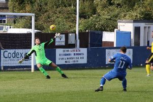 Action from Barton Rovers v North Leigh