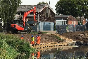 Work taking place on the jetty
