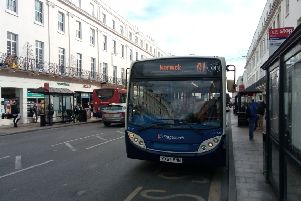 Stagecoach bus on the Parade in Leamington.
