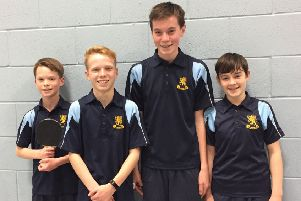 Aylesford School's Tom Yarrow, Josh Yarrow, Joe Shrimpton and Owain Jones. Picture submitted