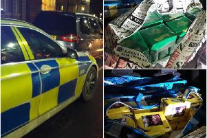 Photos from the tobacco and cigarette seizure in Leamington. Photos by Operational Patrol Unit (OPU) Warwickshire.