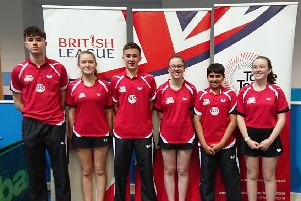 Lillington's Junior British League boys' and girls' trios. Picture submitted