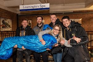 Will Porter, Alex Rieder, Josh Fenner, James Seabrook holding Lianne Kirkman from Helping Hands. Photo submitted.