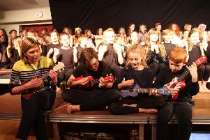 The Ukulele Club's performance showed they had been practicing hard at every club session