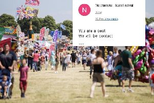 An organiser from Northampton Town Festival has been criticised for a string of 'rude, bizarre' emails to a band.