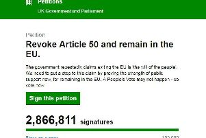The petition to revoke Article 50.