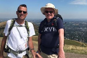 Great Wall trek challenge for Mike and Ian
